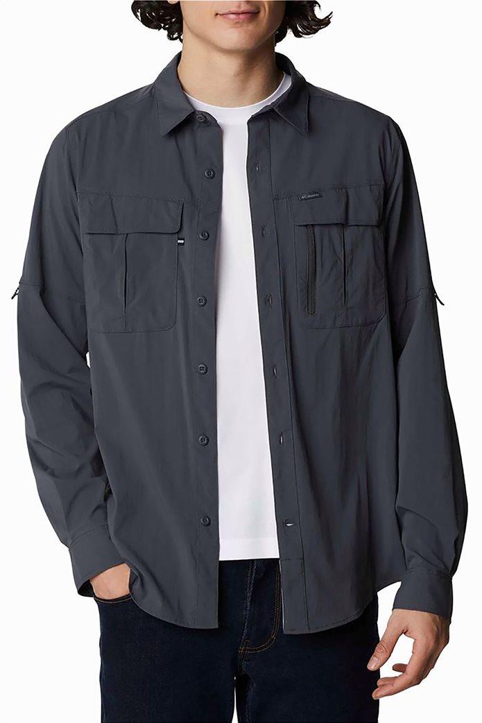 Columbia ανδρικό πουκάμισο μονόχρωμο με flap τσέπες στο στήθος ''Newton Ridge™'' 1