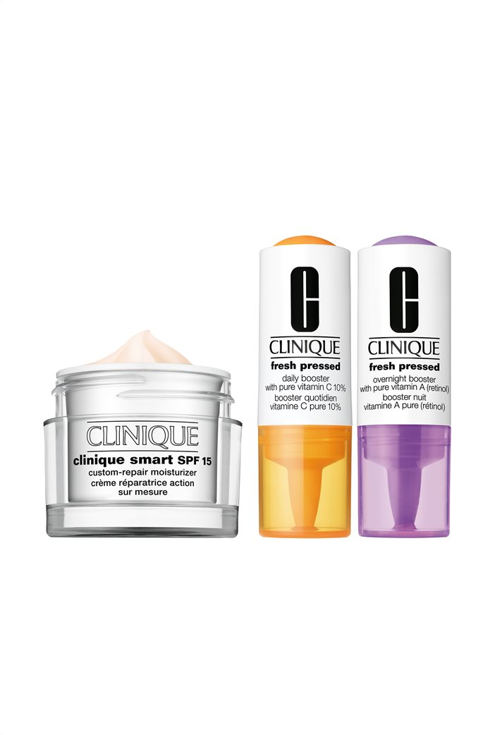 Clinique Smart Moisturizer Value Set Smart SPF 15 Custom-Repair Moisturizer & Fresh Pressed Clinical™ Daily and Overnight Boosters  0