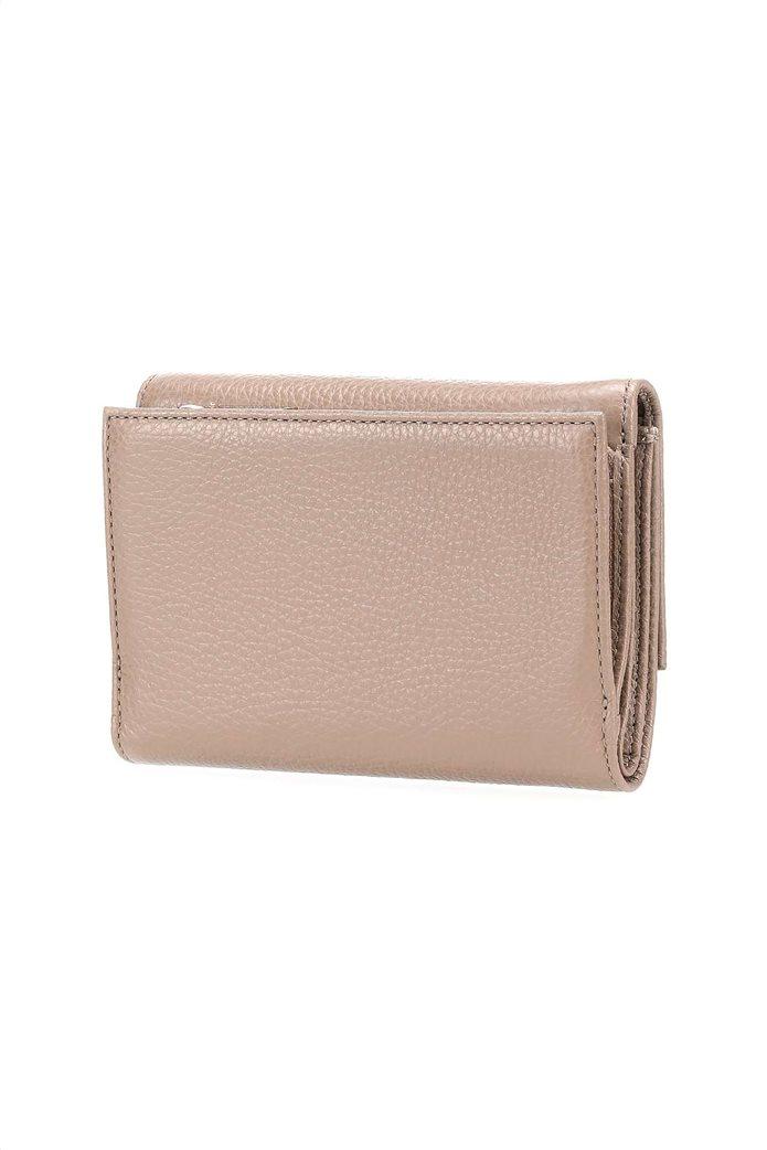 Coccinelle γυναικείo πορτοφόλι με flap κλείσιμο Metallic Soft 1