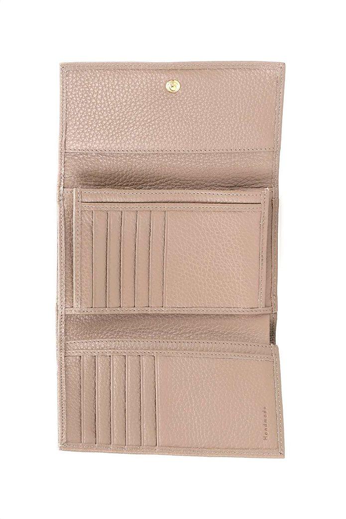 Coccinelle γυναικείo πορτοφόλι με flap κλείσιμο Metallic Soft 2