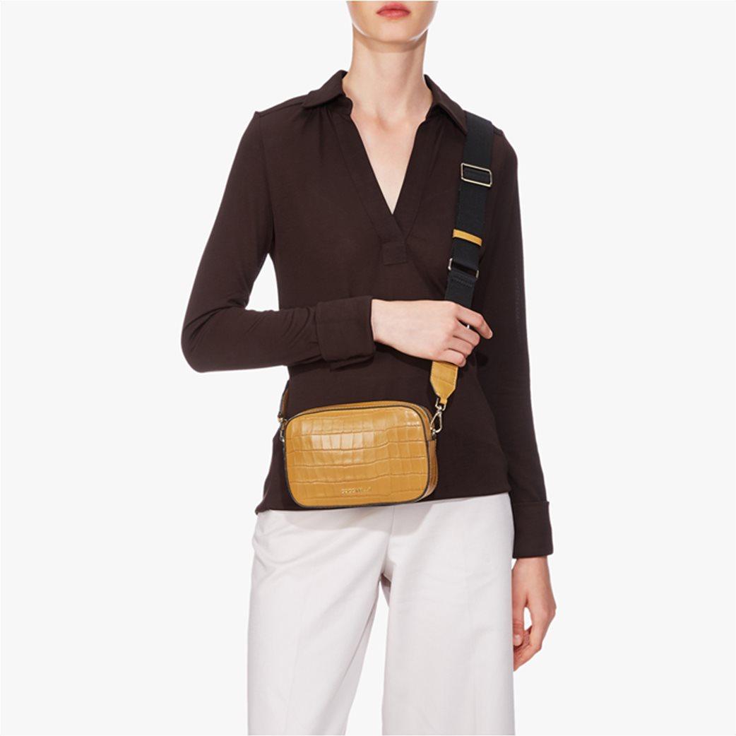 Coccinelle γυναικείο mini bag Tebe Croco 2
