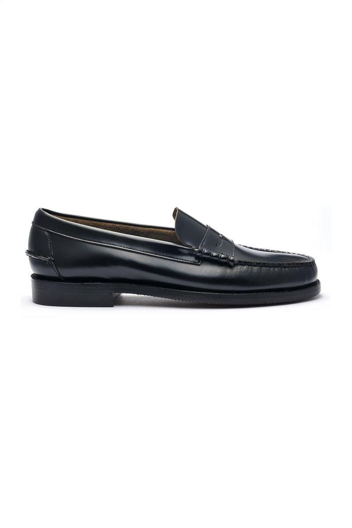 Sebago ανδρικά loafers δερμάτινα Classic Black Dan 0