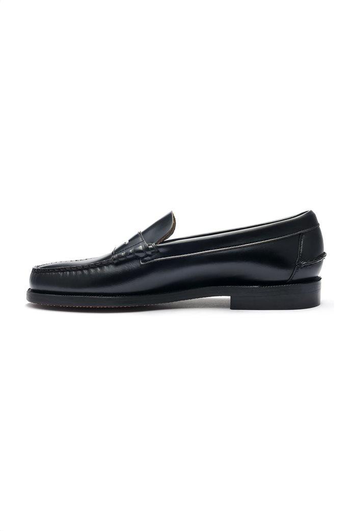 Sebago ανδρικά loafers δερμάτινα Classic Black Dan 1