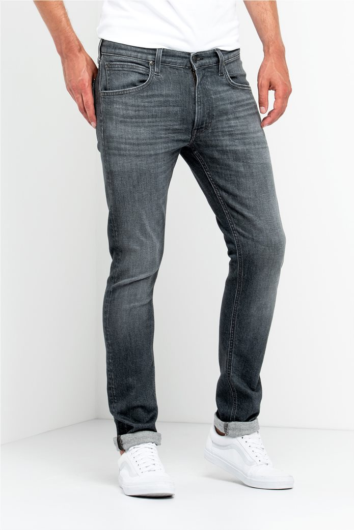 Lee Luke slim tapered ανδρικό τζην παντελόνι Grey Used 0
