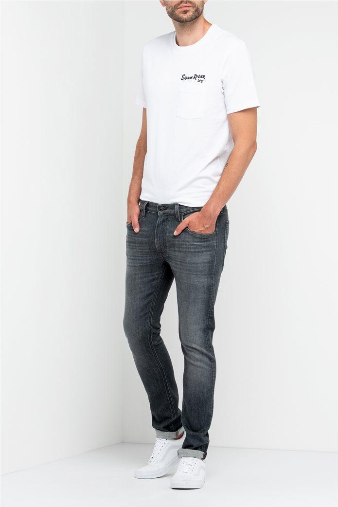 Lee Luke slim tapered ανδρικό τζην παντελόνι Grey Used 2