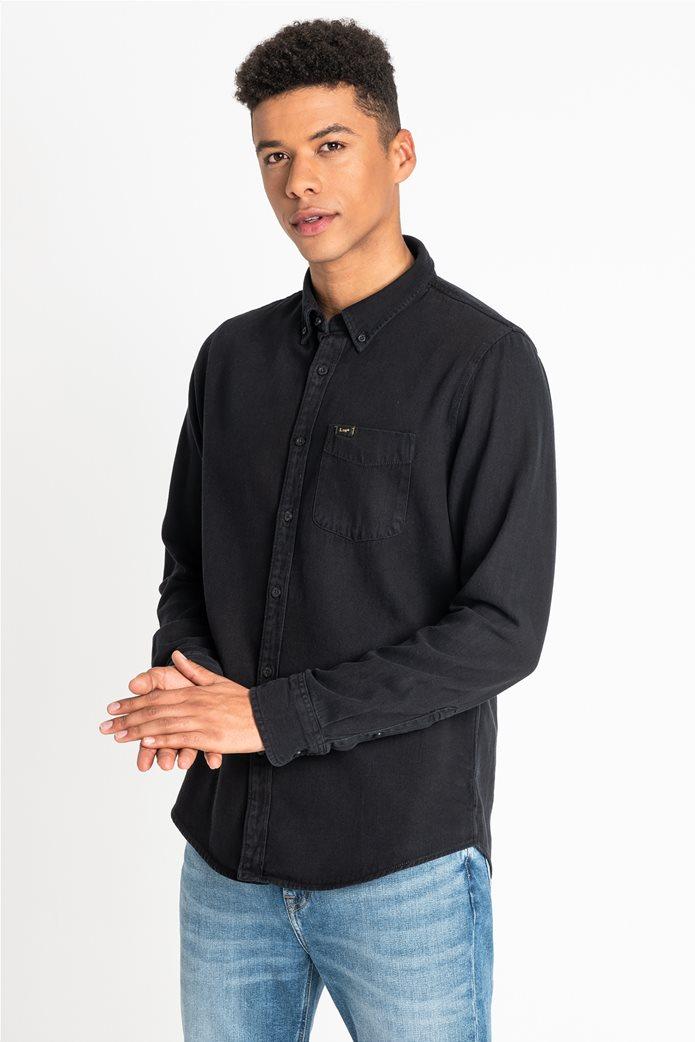 "Lee ανδρικό denim πουκάμισο με μία τσέπη ""Button Down"" 0"