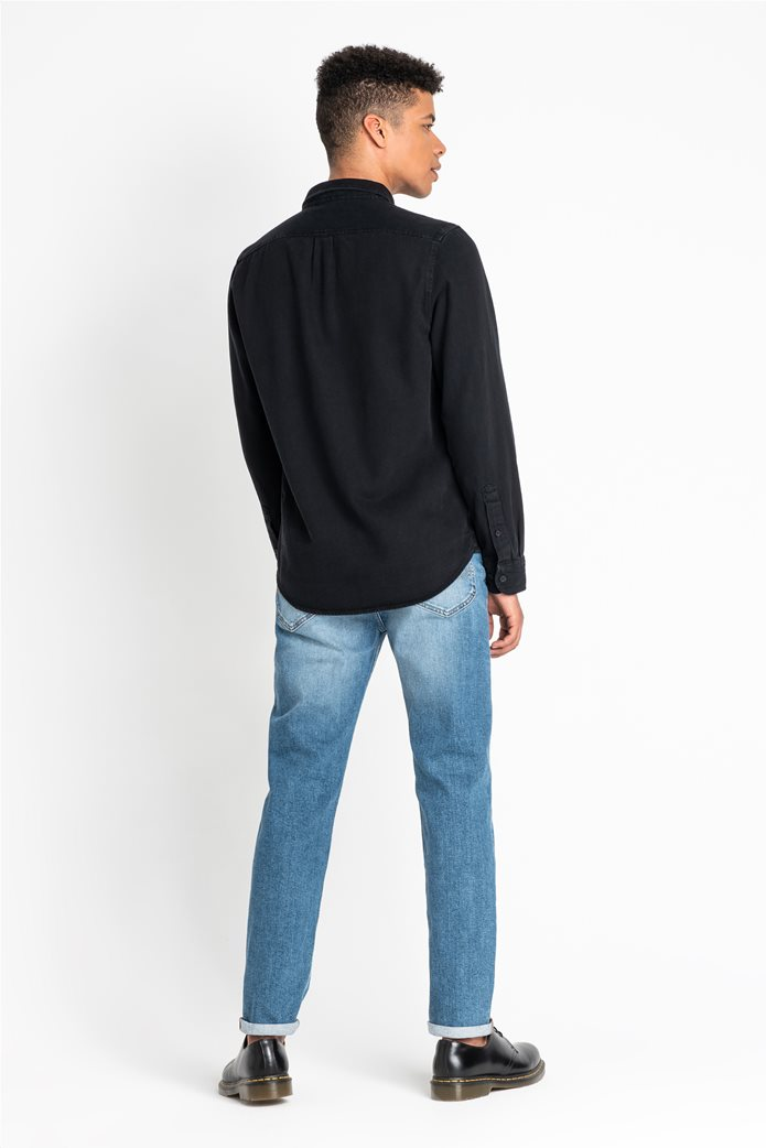 "Lee ανδρικό denim πουκάμισο με μία τσέπη ""Button Down"" 1"