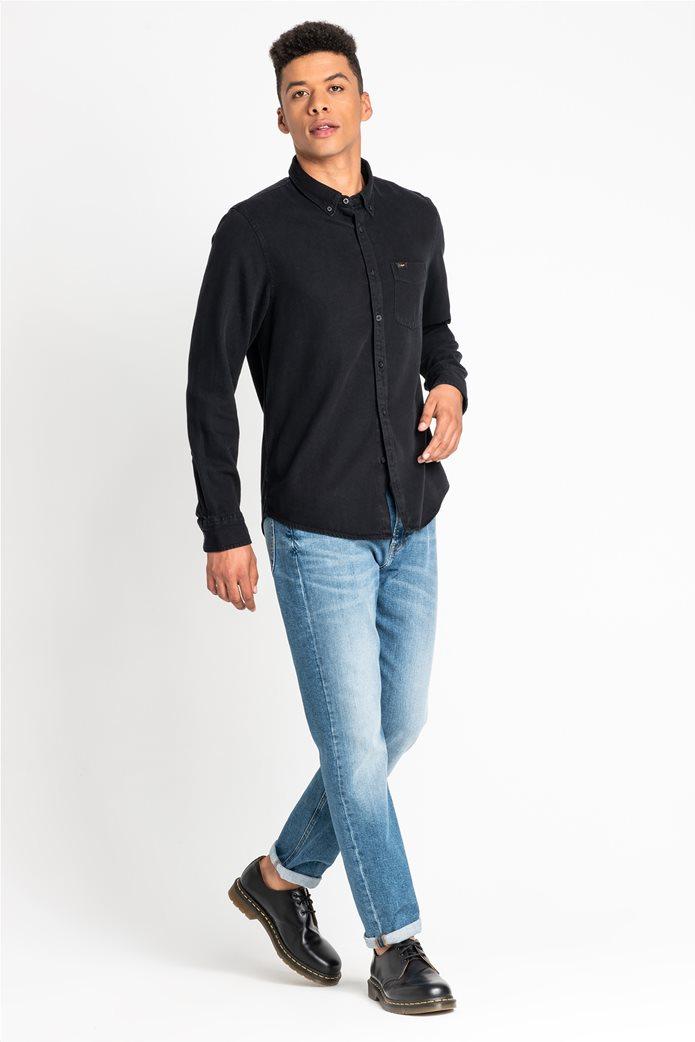 "Lee ανδρικό denim πουκάμισο με μία τσέπη ""Button Down"" 2"