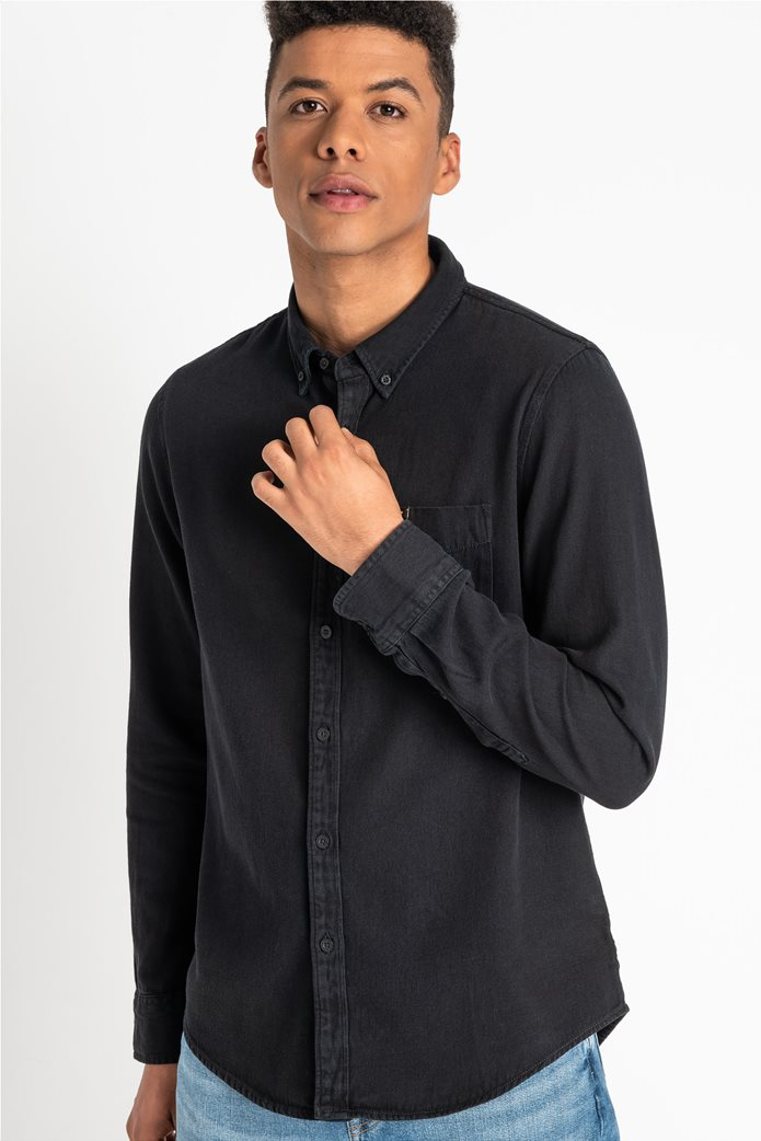 "Lee ανδρικό denim πουκάμισο με μία τσέπη ""Button Down"" 3"
