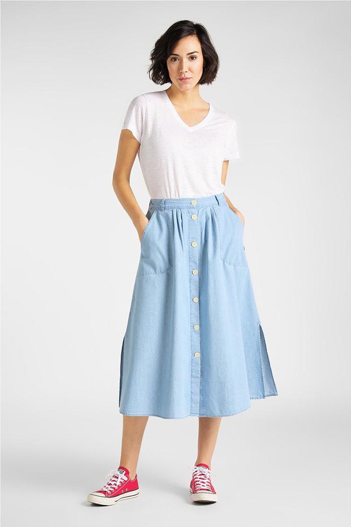 "Lee γυναικείο λινό T-shirt  ""V Neck Tee"" 0"