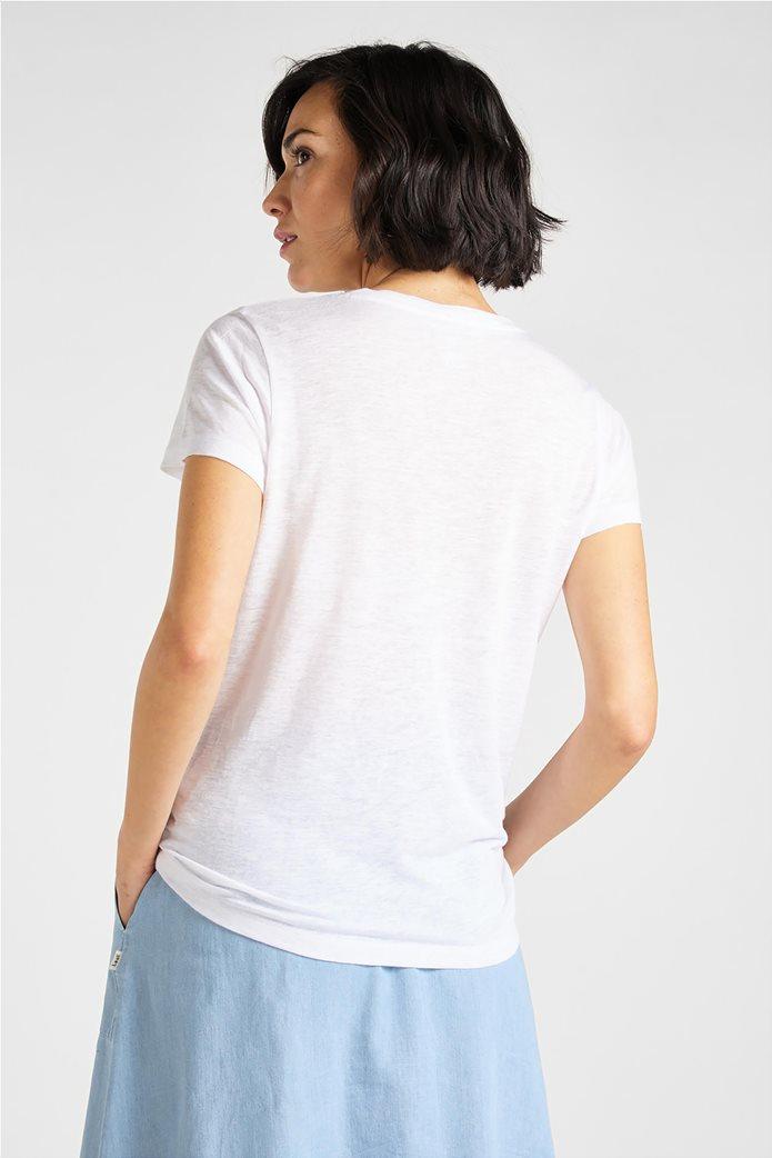 "Lee γυναικείο λινό T-shirt  ""V Neck Tee"" 2"
