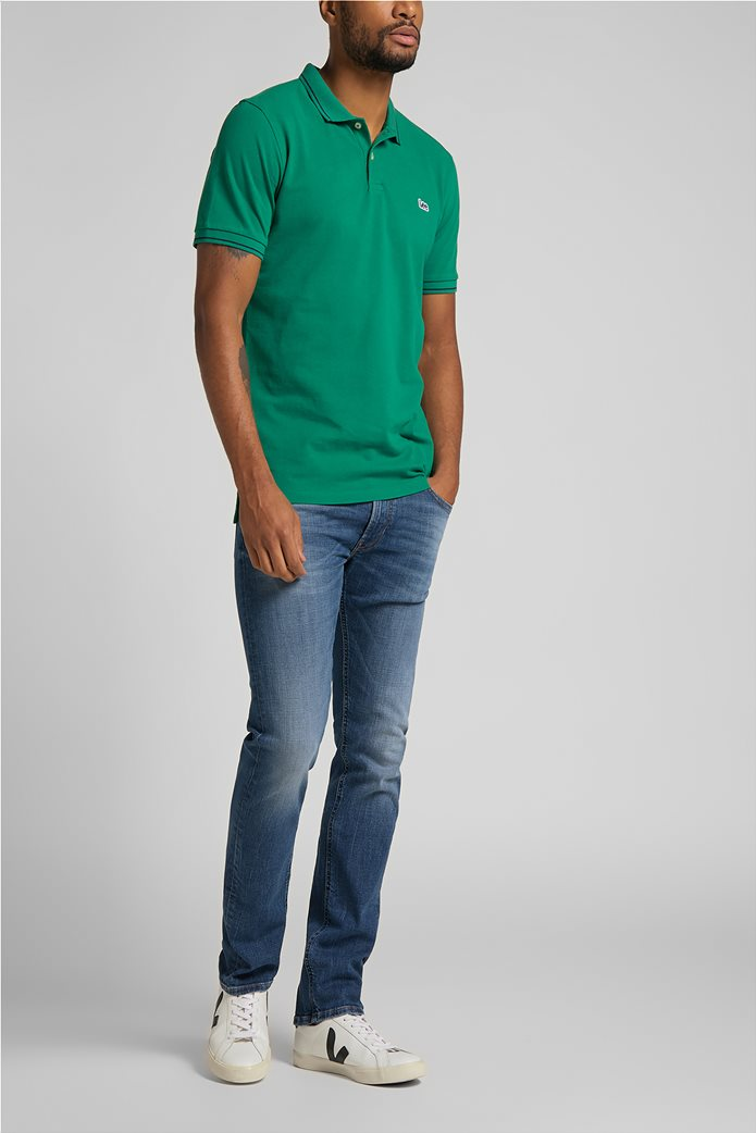 Lee ανδρική πόλο μπλούζα πικέ με κεντημένο λογότυπο Πράσινο Σκούρο  2