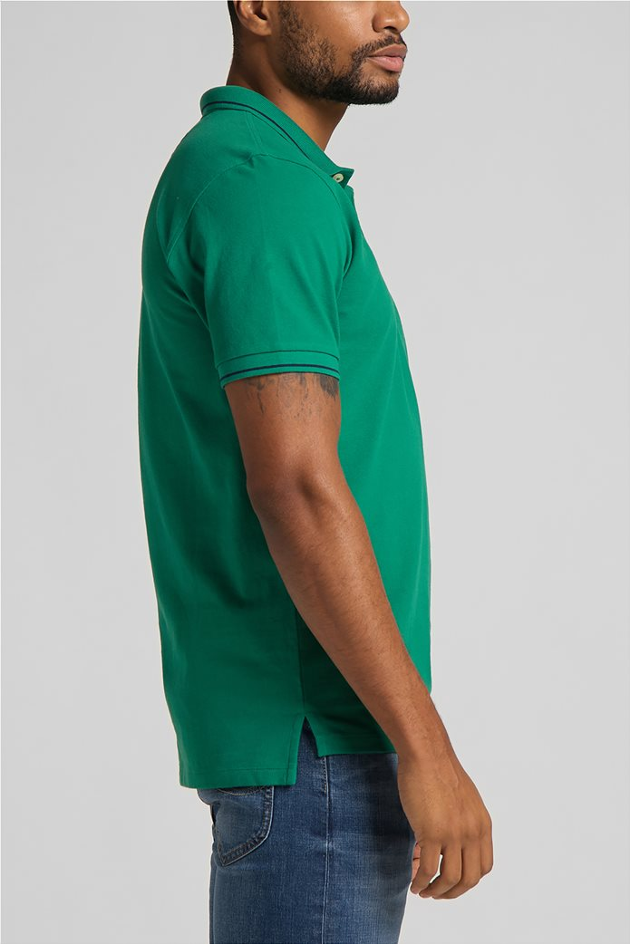 Lee ανδρική πόλο μπλούζα πικέ με κεντημένο λογότυπο Πράσινο Σκούρο  3