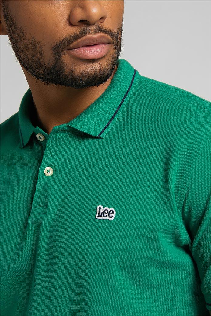 Lee ανδρική πόλο μπλούζα πικέ με κεντημένο λογότυπο Πράσινο Σκούρο  4