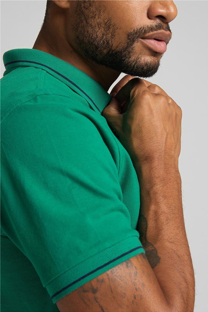 Lee ανδρική πόλο μπλούζα πικέ με κεντημένο λογότυπο Πράσινο Σκούρο  5