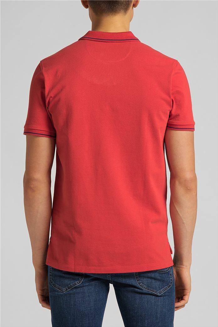 Lee ανδρική πόλο μπλούζα πικέ με κεντημένο λογότυπο Κόκκινο 1