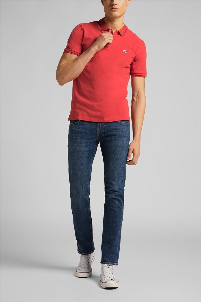 Lee ανδρική πόλο μπλούζα πικέ με κεντημένο λογότυπο Κόκκινο 2