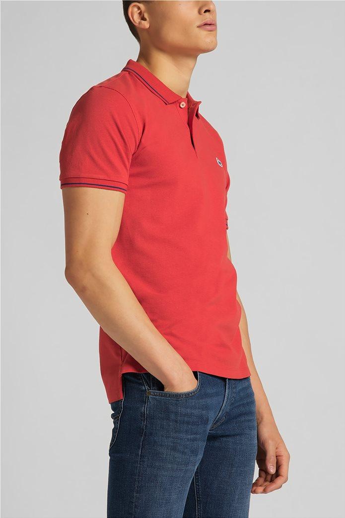 Lee ανδρική πόλο μπλούζα πικέ με κεντημένο λογότυπο Κόκκινο 3