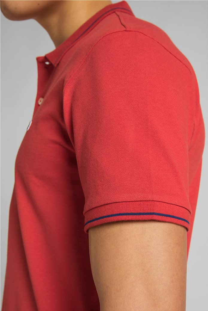 Lee ανδρική πόλο μπλούζα πικέ με κεντημένο λογότυπο Κόκκινο 5