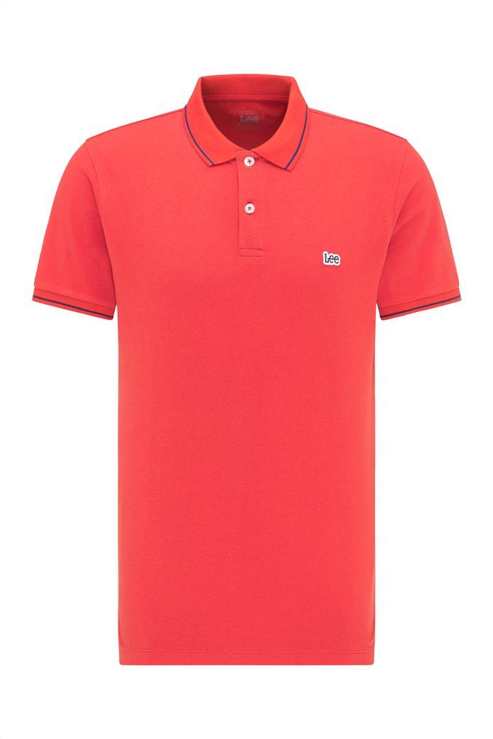 Lee ανδρική πόλο μπλούζα πικέ με κεντημένο λογότυπο Κόκκινο 6
