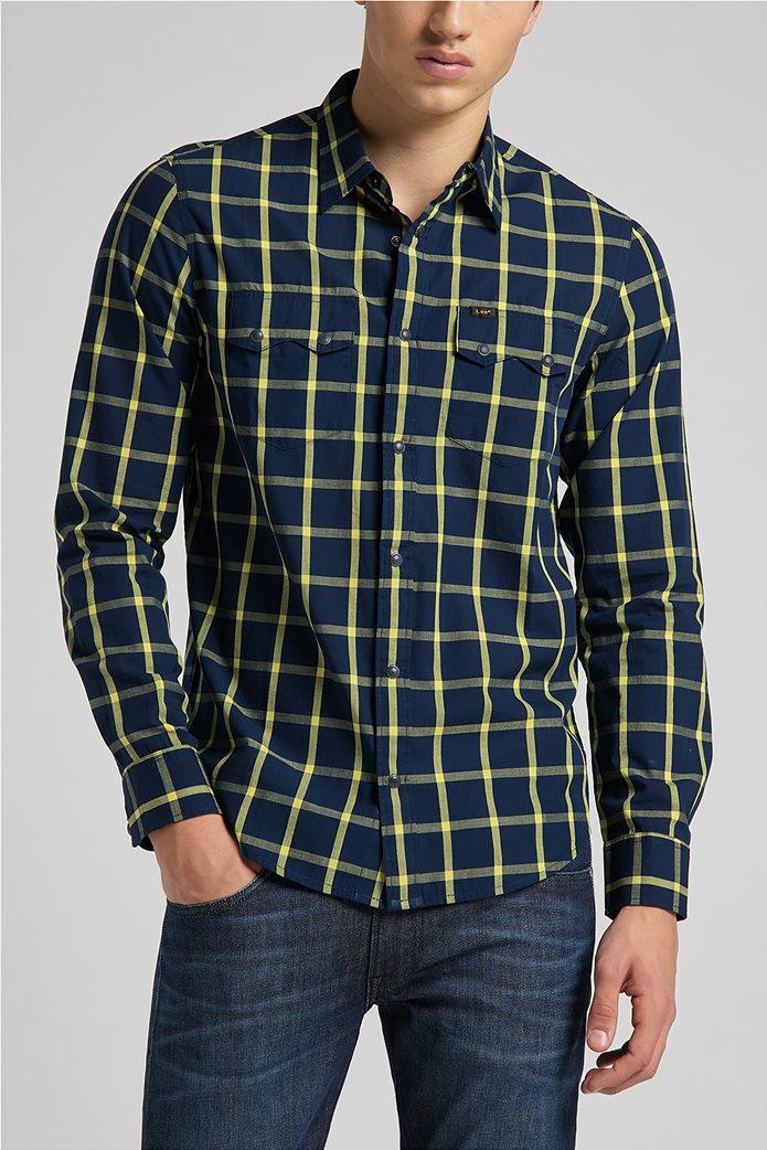 Lee ανδρικό πουκάμισο με καρό σχέδιο ''Rider'' 0