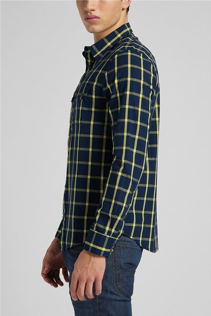Lee ανδρικό πουκάμισο με καρό σχέδιο ''Rider'' 3