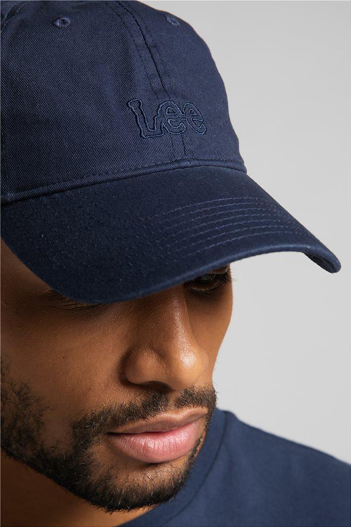 Lee ανδρικό καπέλο jockey με κεντημένο logo 1