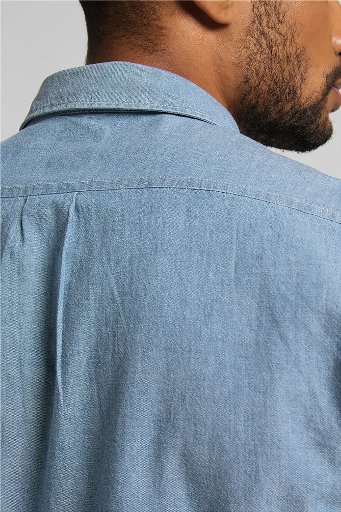 Lee ανδρικό πουκάμισο μονόχρωμο με απλικέ τσέπη στο στήθος 5