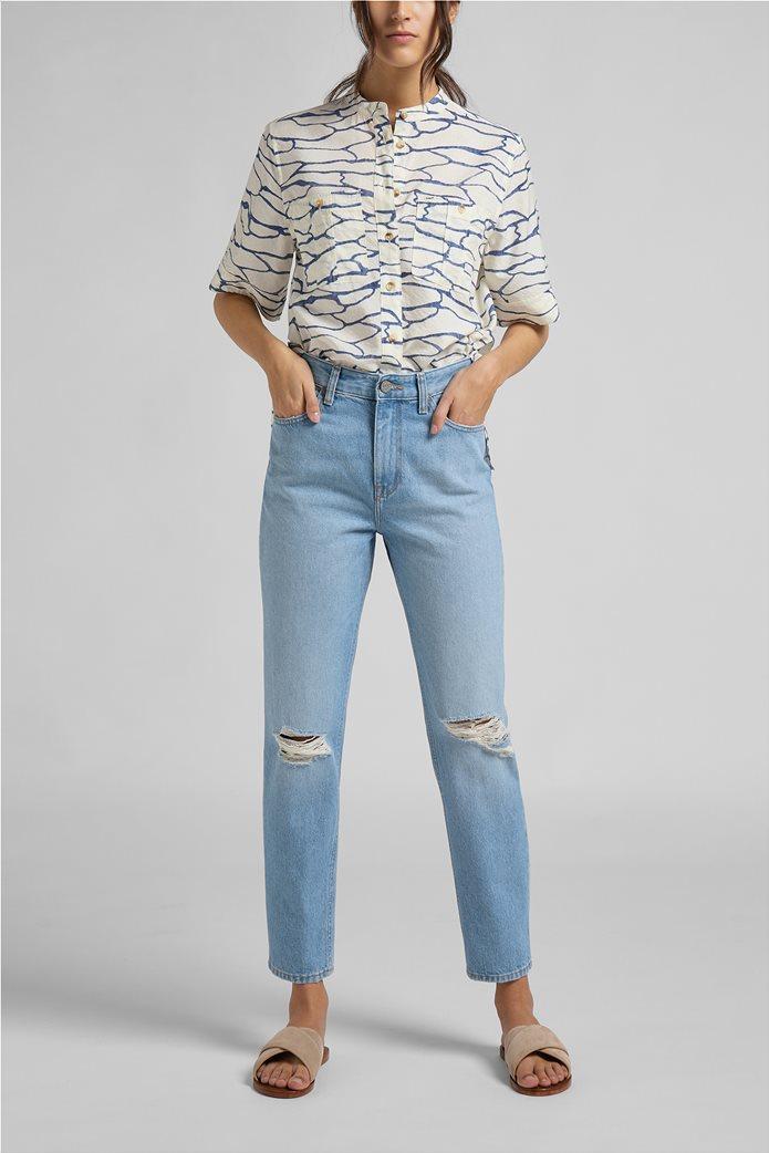 Lee γυναικείο τζην παντελόνι ψηλόμεσο με σκισίματα ''Carol'' 2