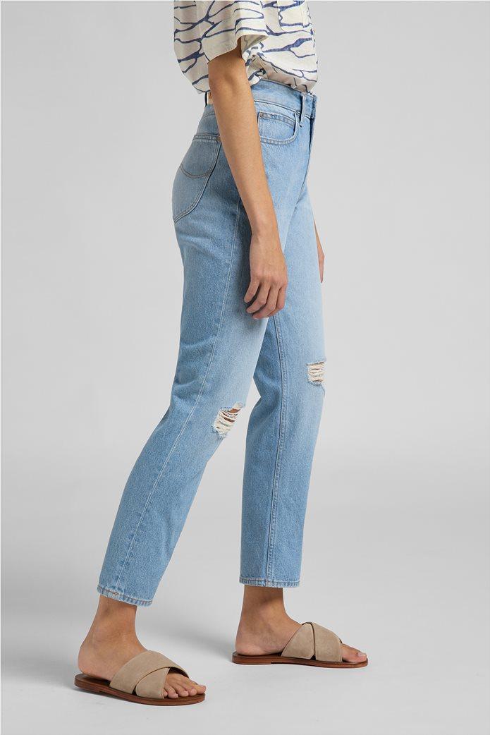 Lee γυναικείο τζην παντελόνι ψηλόμεσο με σκισίματα ''Carol'' 3