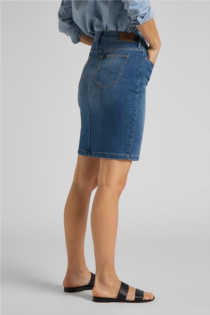 Lee γυναικεία mini φούστα denim με σκίσιμο στο τελείωμα 3