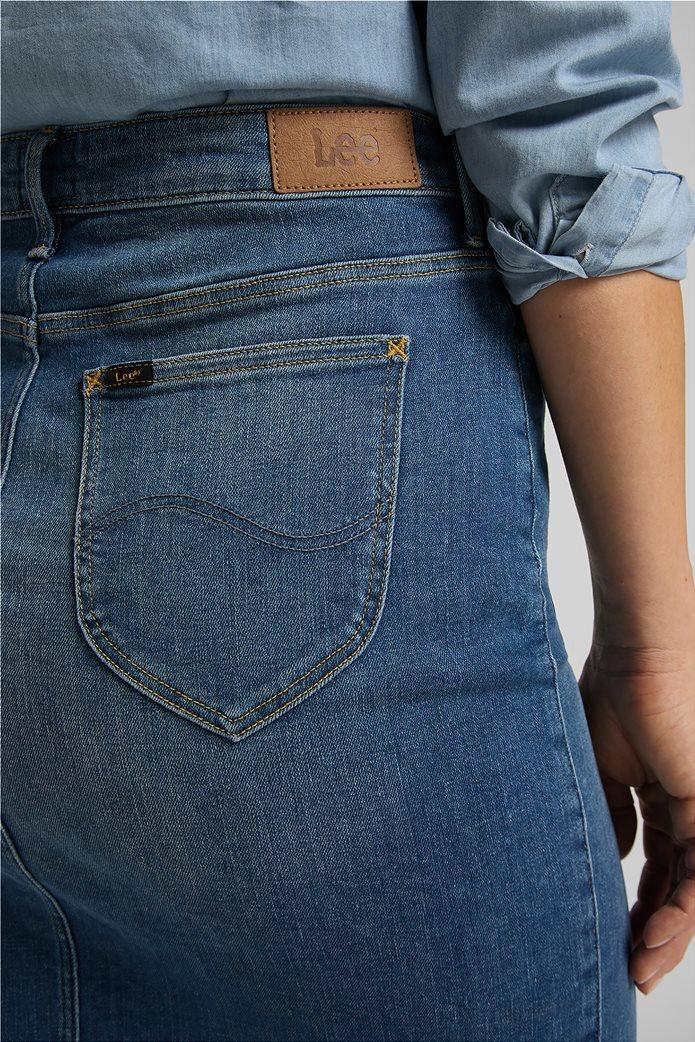 Lee γυναικεία mini φούστα denim με σκίσιμο στο τελείωμα 4