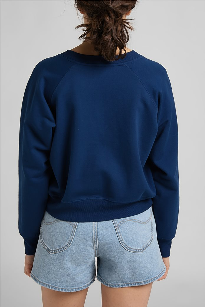 Lee γυναικεία φούτερ μπλούζα cropped με κεντημένο λογότυπο 1