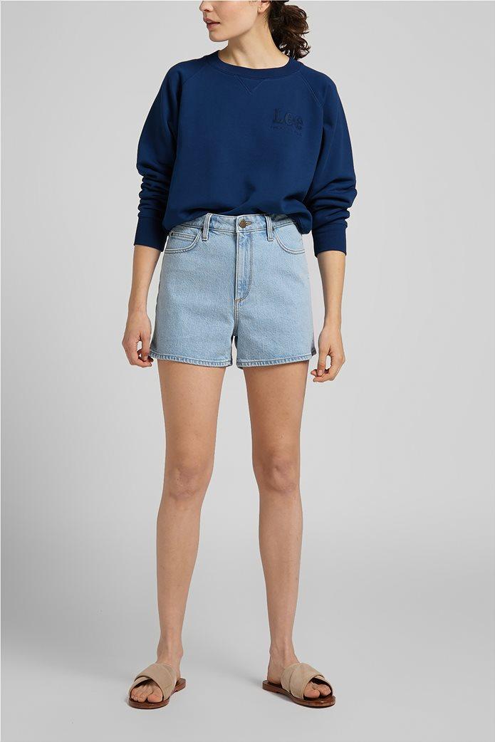 Lee γυναικεία φούτερ μπλούζα cropped με κεντημένο λογότυπο 2