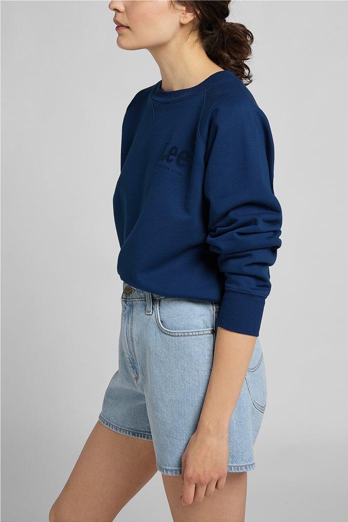 Lee γυναικεία φούτερ μπλούζα cropped με κεντημένο λογότυπο 3