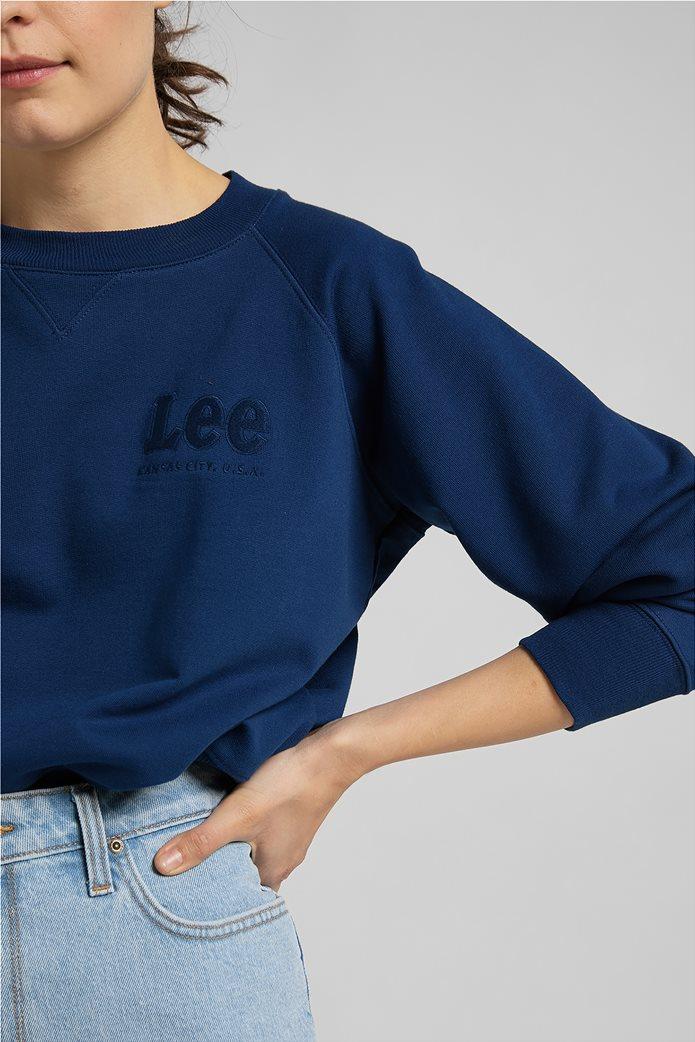 Lee γυναικεία φούτερ μπλούζα cropped με κεντημένο λογότυπο 5