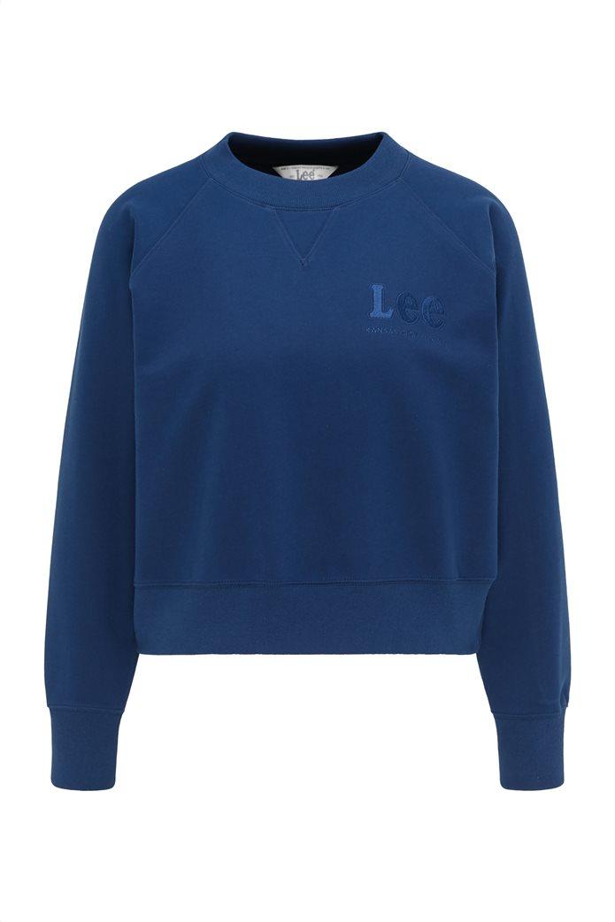 Lee γυναικεία φούτερ μπλούζα cropped με κεντημένο λογότυπο 6
