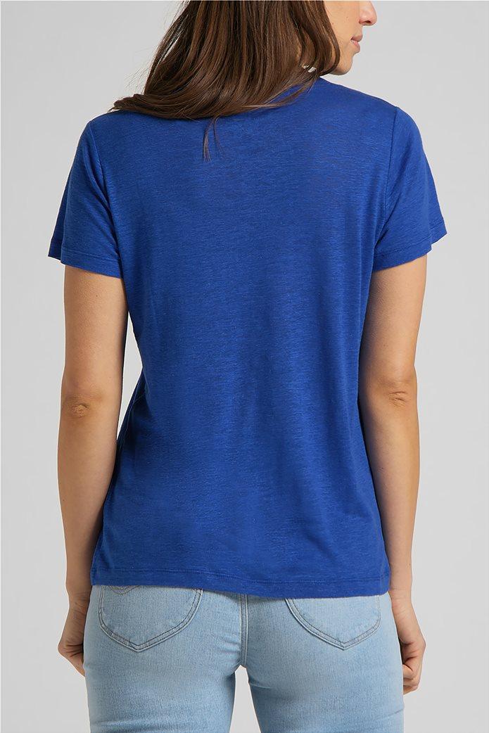 Lee γυναικεία μπλούζα μονόχρωμη με V λαιμόκοψη 1