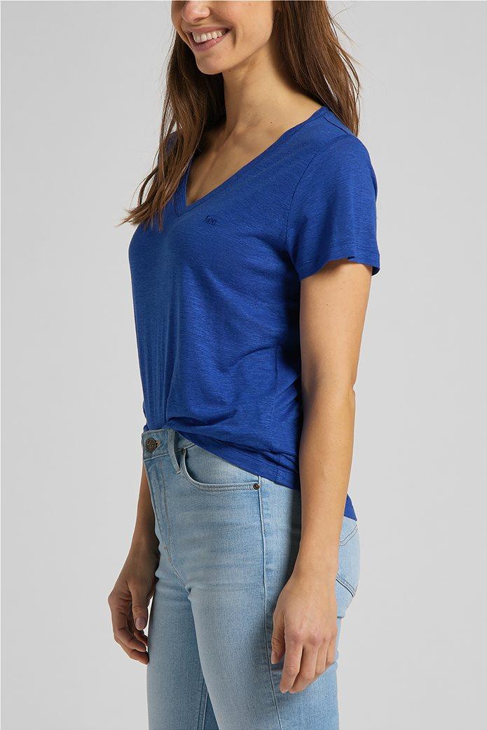 Lee γυναικεία μπλούζα μονόχρωμη με V λαιμόκοψη 3