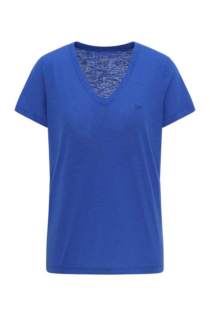 Lee γυναικεία μπλούζα μονόχρωμη με V λαιμόκοψη 6
