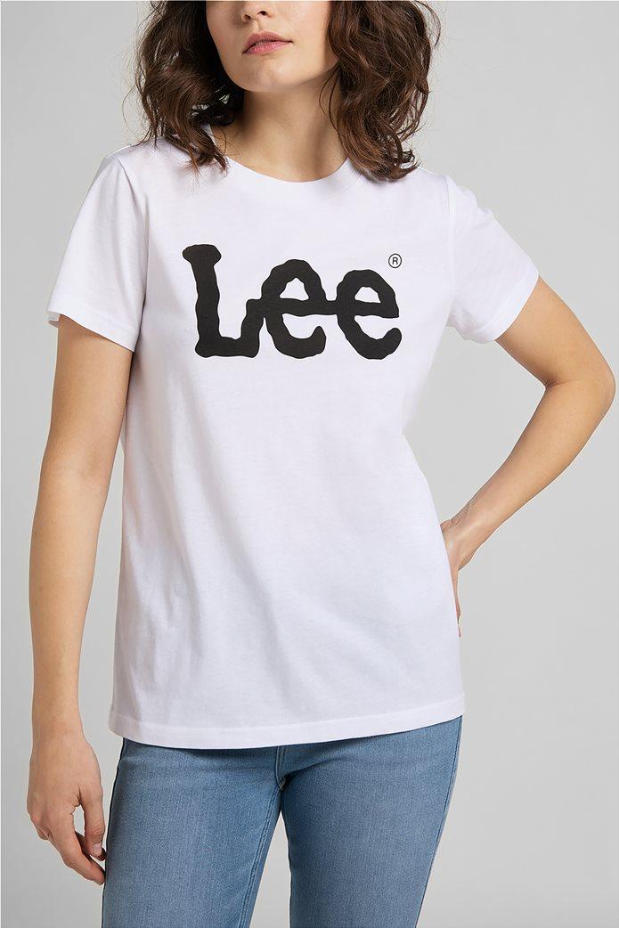 Lee γυναικεία μπλούζα με logo print 0