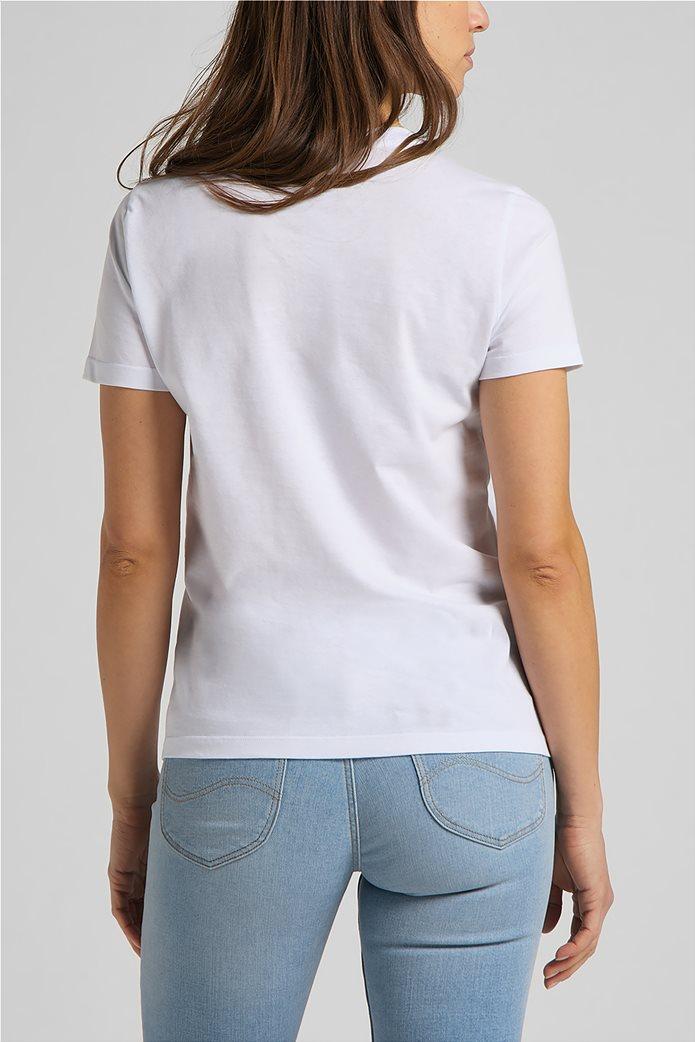 Lee γυναικείο T-Shirt με logo print Slim Fit 1