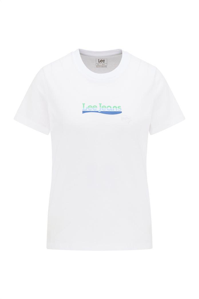 Lee γυναικείο T-Shirt με logo print Slim Fit 6