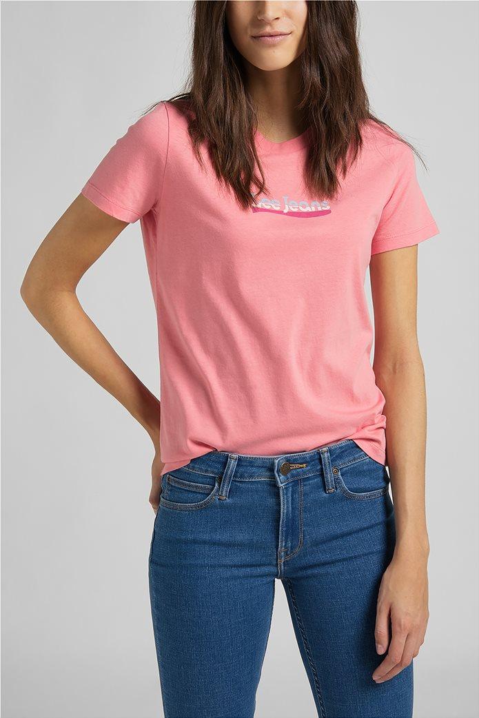 Lee γυναικείο T-Shirt με logo print Slim Fit 0