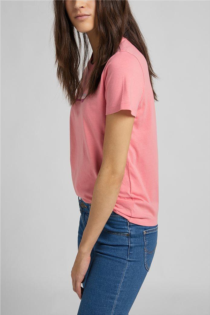 Lee γυναικείο T-Shirt με logo print Slim Fit 3