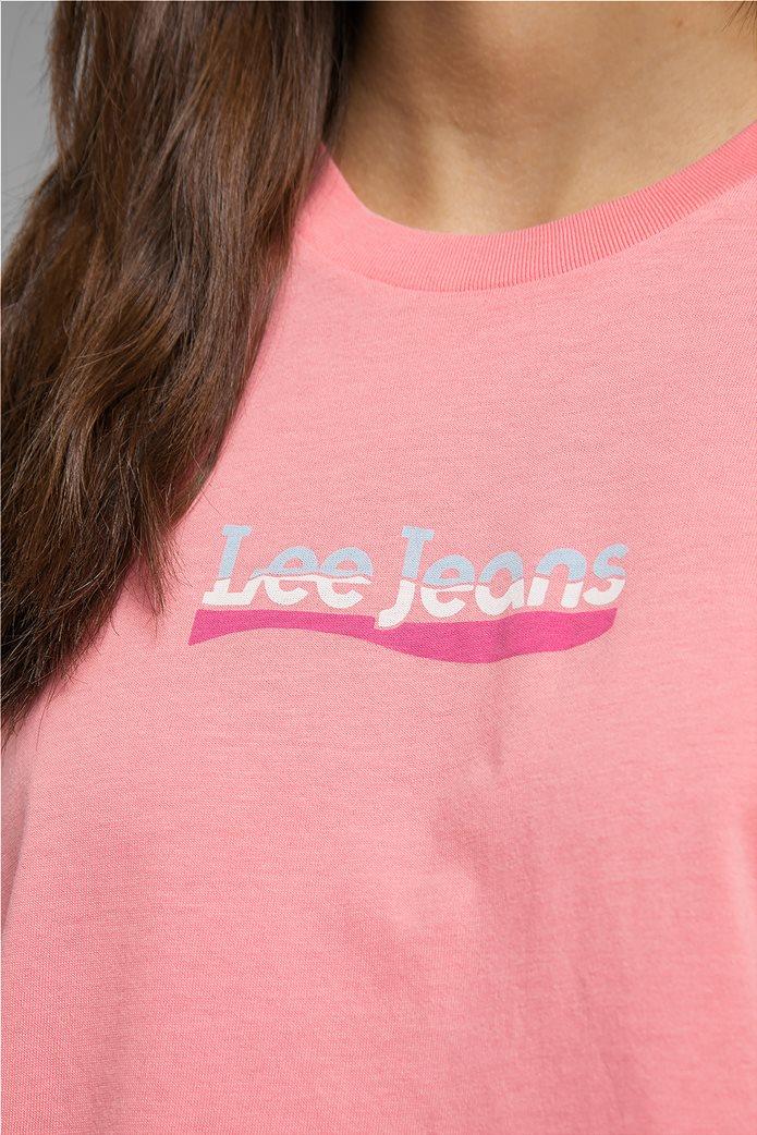 Lee γυναικείο T-Shirt με logo print Slim Fit 4