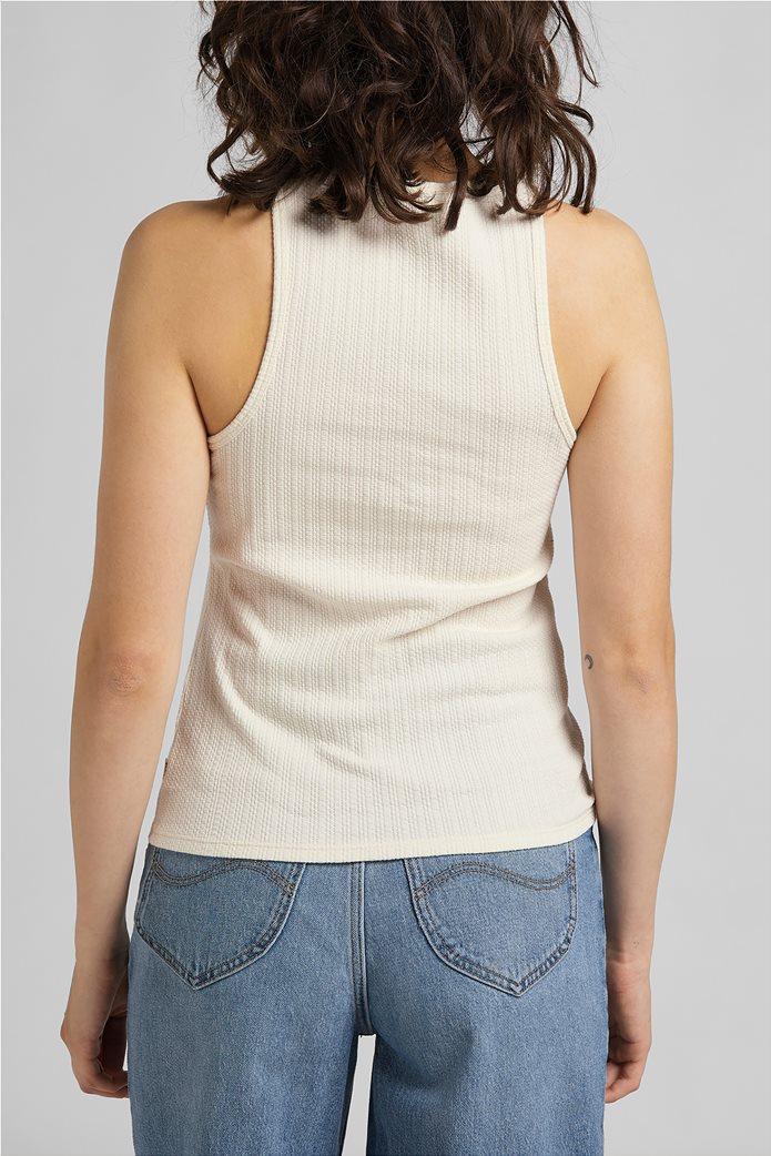 Lee γυναικεία μπλούζα αμάνικη ribbed 1
