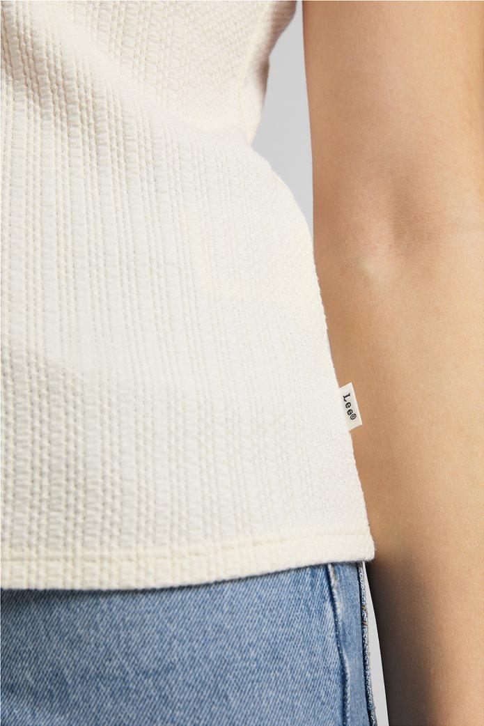 Lee γυναικεία μπλούζα αμάνικη ribbed 4