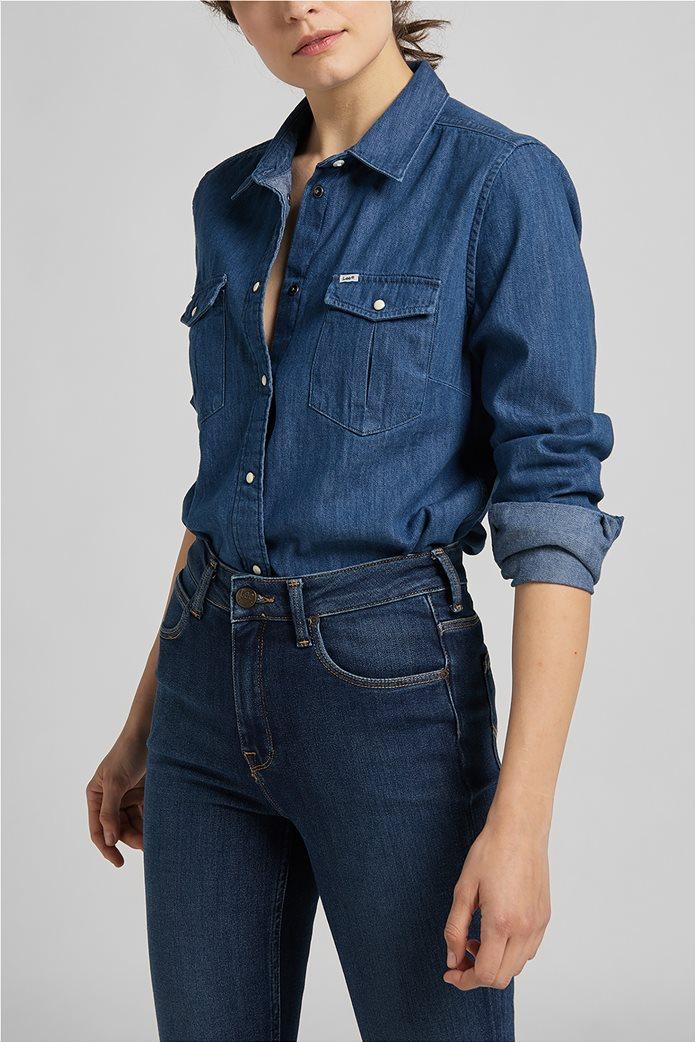 Lee γυναικείο πουκάμισο denim με flap τσέπες 0