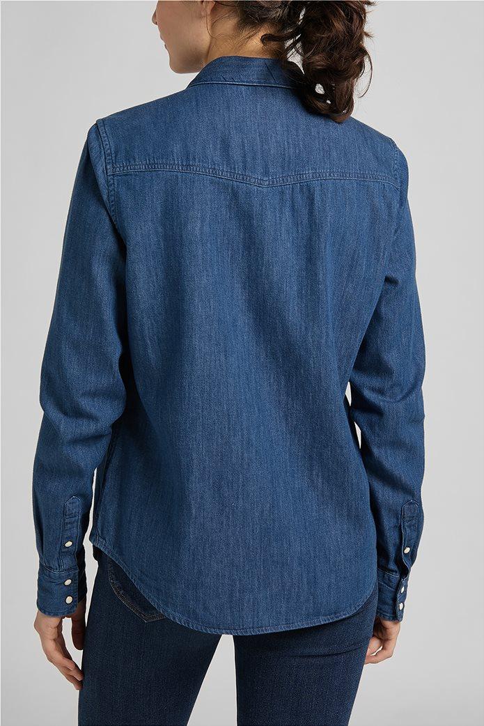 Lee γυναικείο πουκάμισο denim με flap τσέπες 1